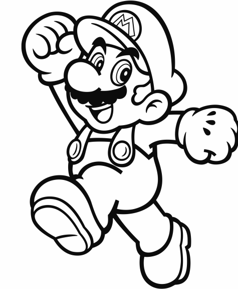 Official Mario coloring pages | GoNintendo