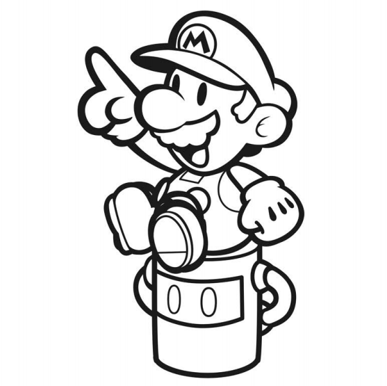 Paper Mario Color Splash Official Coloring Book Artwork - Paper-mario-coloring-pages